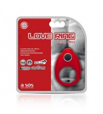 Anel Vibratório Love Ring Sexy Red