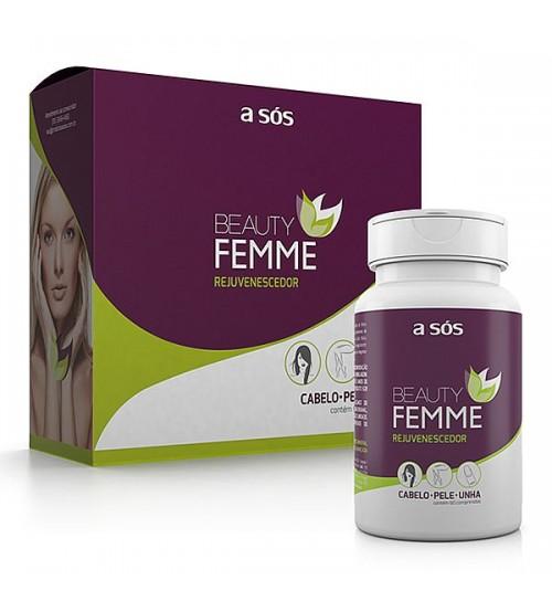 Rejuvenescedor de Cabelo, Pele e Unha Beauty Femme - 60 Comprimidos