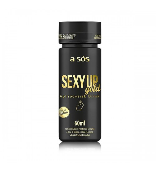 Energético Sexy Up Gold sabor Vodca frasco com 60ml