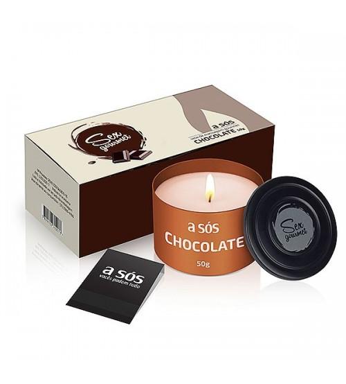 Vela Hidratante Beijável Gourmet Chocolate - 50g