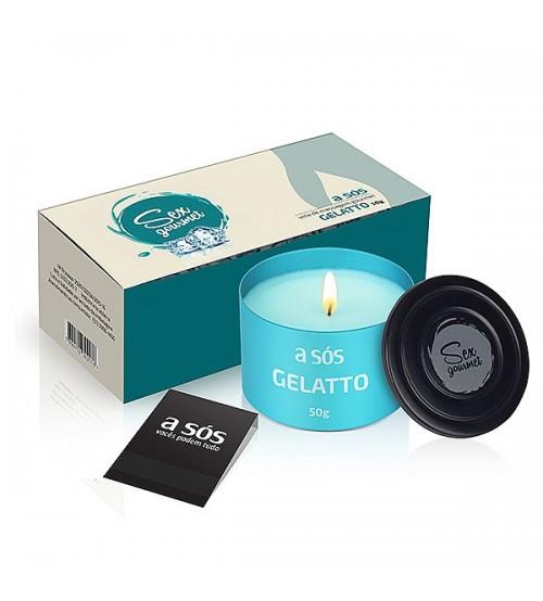 Vela Hidratante Beijável Gourmet Gelatto - 50g